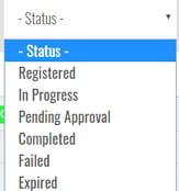 status-drop-down