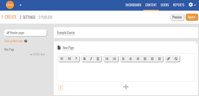 kb-intuto-course-editor-new-page-blank-text-box