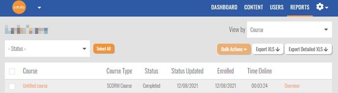 scorm user report